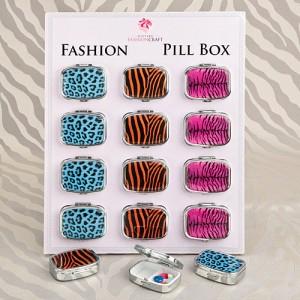 Animal Print Pillbox