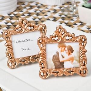 Rose Gold Baroque style frame favor