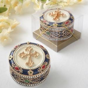 Cross Rosary box - trinket box