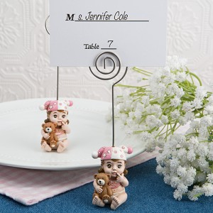 Vintage Baby Girl Place Card Holder from Fashioncraft