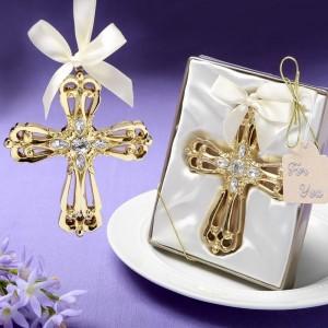 Majestic Gold Cross ornament